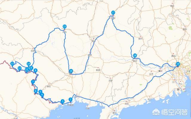 广东周边的省市有什么好线路和地点推荐?自驾